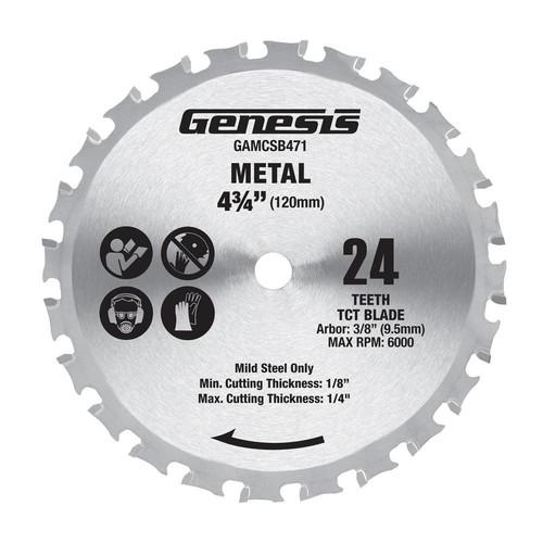 Genesis 4-3/4 in. Metal Cutting Saw Blade