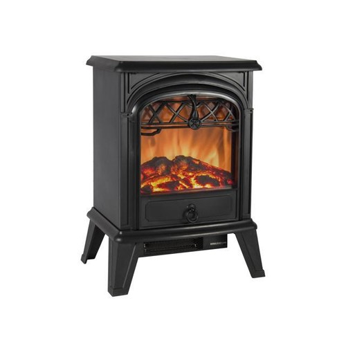 Best Choice Products 1500W Free Standing Electric Fireplace Heater Fire Stove Flame Wood Log Portable