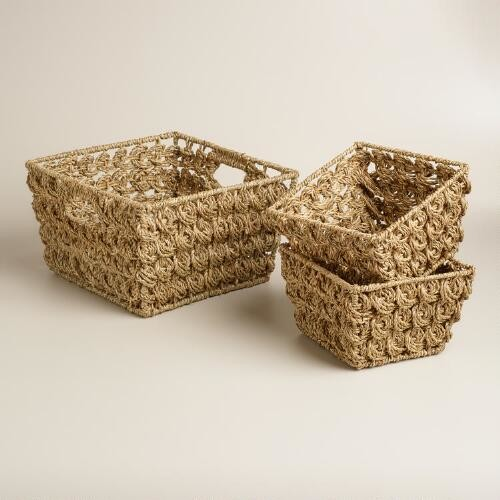 Natural Betty Coin Weave Baskets