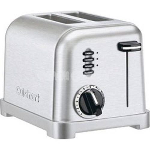 Cuisinart CPT-160 2-Slice Metal Classic Stainless Steel Toaster - Factory Refurbished