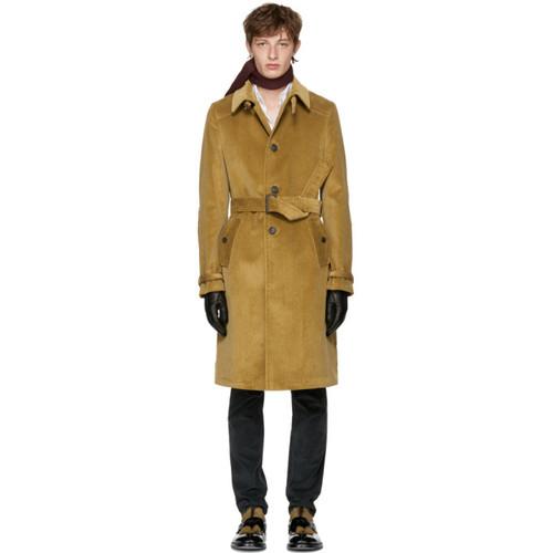 PRADA Tan Corduroy Coat