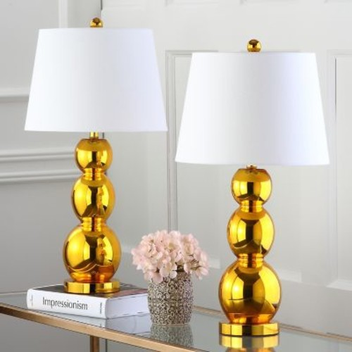 Jayne Three Sphere Glass 1-light Gold Table Lamps (Set of 2)