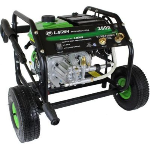 LIFAN Pressure Storm Series 2,800 psi 2.3 GPM AR Axial Cam Pump Recoil Start Gas Pressure Washer with Panel Mounted Controls
