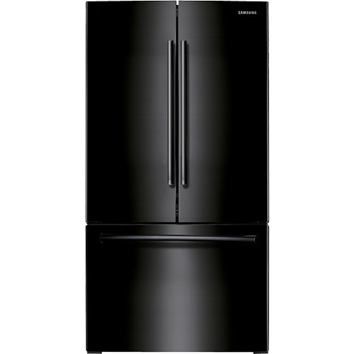 Samsung - 25.5 Cu. Ft. French Door Refrigerator with Filtered Ice Maker - Black