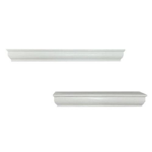 Home Decorators Collection 14/18 in. L x 1.75 in. W Profile Floating White Ledge (2-Piece)