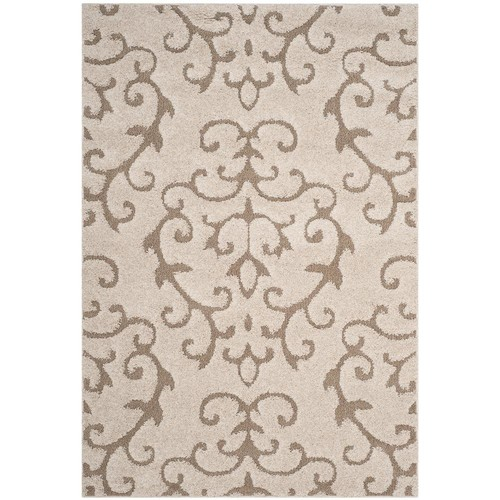 Safavieh Florida Shag Cream/Beige 5 ft. 3 in. x 7 ft. 6 in. Area Rug