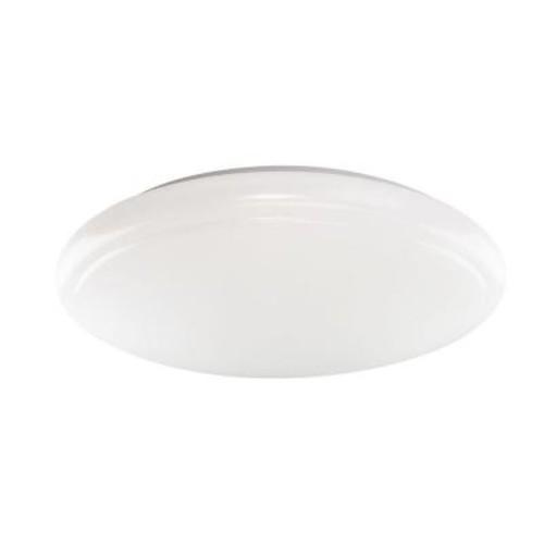Euri Lighting 15 in. Round White Integrated LED Ceiling Flushmount
