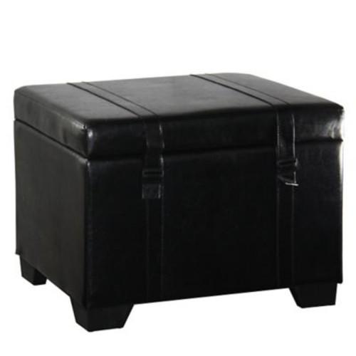 Alcott Hill Parnassus Leather Storage Ottoman