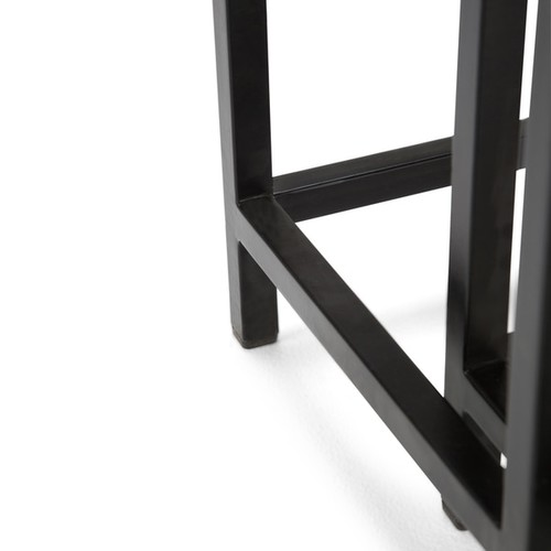 WYNDENHALL Rhonda 2-piece Nesting Side Table in Dark Cognac Brown