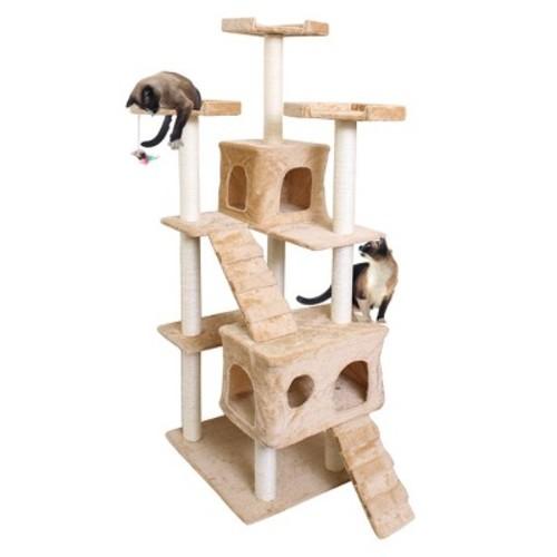 Paws & Pals Cat Scratch Tree Condo Furniture 72