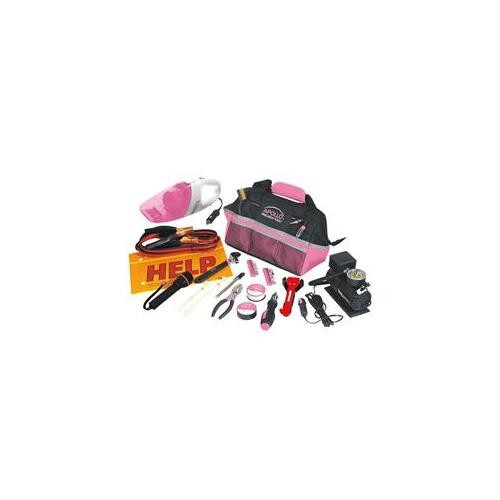 Apollo DT-0515P 54 Piece Roadside Tool Kit- Pink