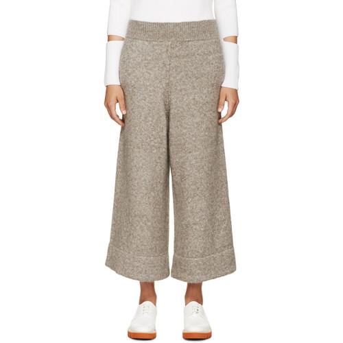 STELLA MCCARTNEY Beige Wide-Leg Trousers