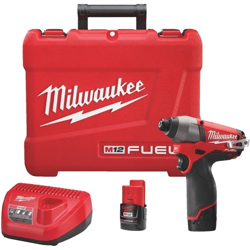 Milwaukee M12 FUEL Lithium-Ion Brushless Cordless Impact Driver Kit - 2553-22