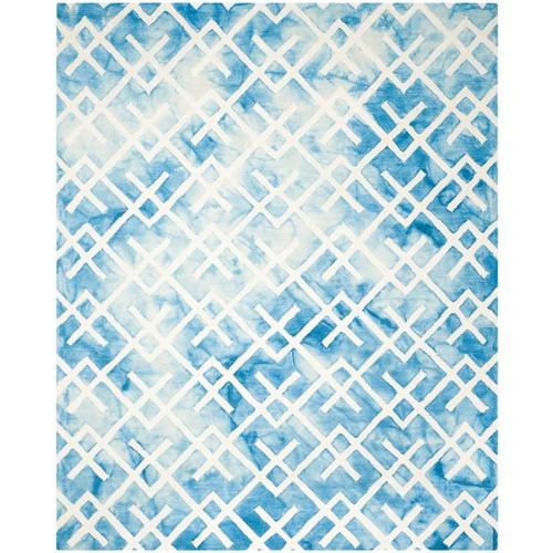 Safavieh Dip Dye Blue/Ivory 9 ft. x 12 ft. Area Rug