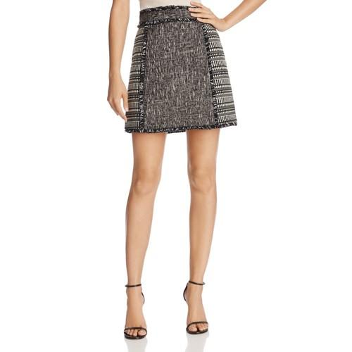 Pixel Mix Fringed Mini Skirt