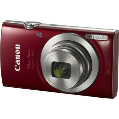 PowerShot ELPH 180 Digital Camera with Free Accessory Kit (Red)