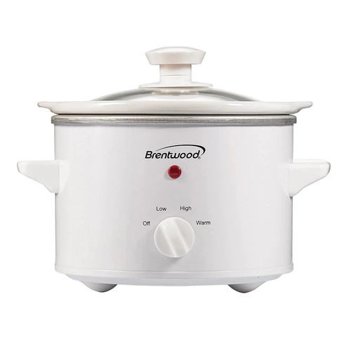 Brentwood Appliances SC-115W Slow Cooker, 1.5-Quart, White Body [White, None]