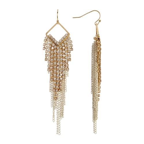 Crystal Chain Fringe Earrings