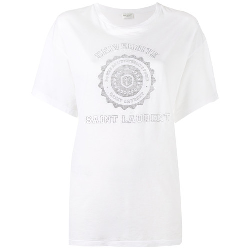 SAINT LAURENT College Print T-Shirt