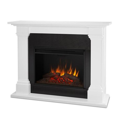 Real Flame Callaway Grand 63 in. Electric Fireplace in White