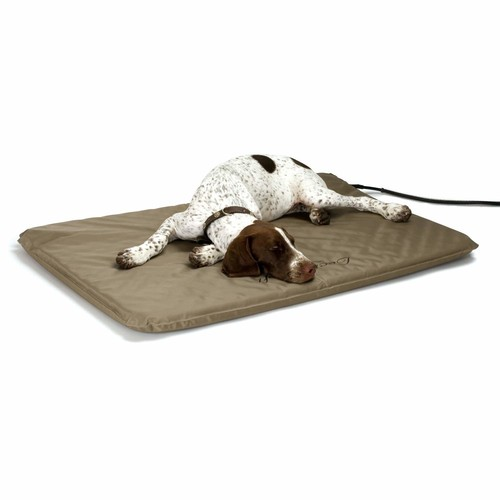 K&H Pet Products Lectro-Soft Outdoor Heated Bed with FREE Cover - MET Safety Listed [Frustration-Free Packaging, Large( 25