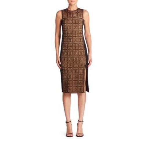 AKRIS Lace & Silk Sheath Dress