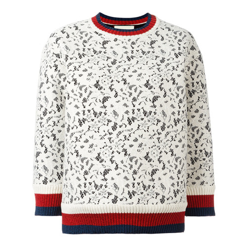 GUCCI Sylvie Web Lace Sweater