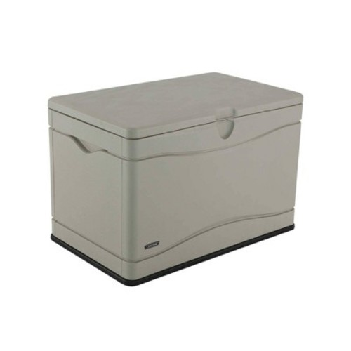Lifetime 80 Gallon Outdoor Storage Box - White