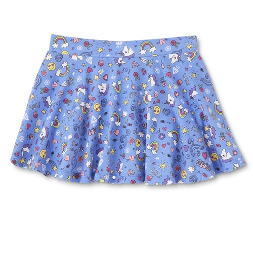 Basic Editions Girls' Scooter Skirt - Emoji Print [Fit : Girls 7-16]