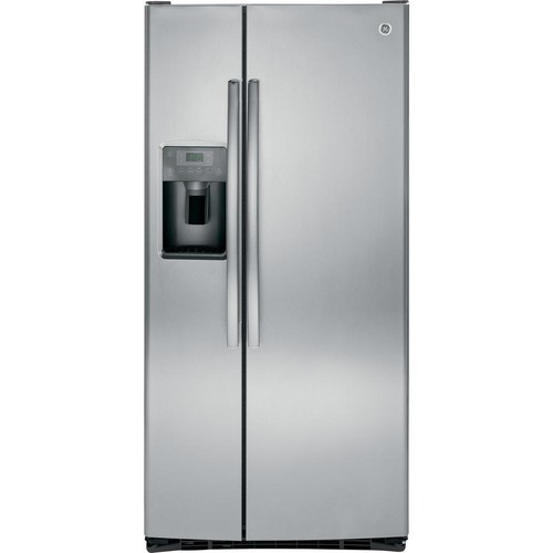 GE 32.75 in. W 22.5 cu. ft. Side by Side Refrigerator in Stainless Steel, ENERGY STAR