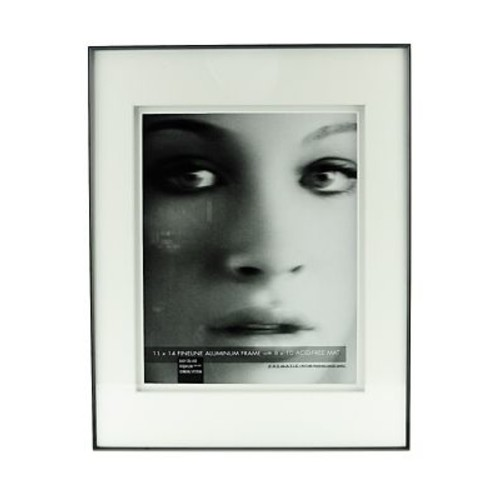 Framatic Double Matted Fineline Aluminum Frames 11 In. X 14 In. 8 In. X 10 In. Opening (F1114BD27)