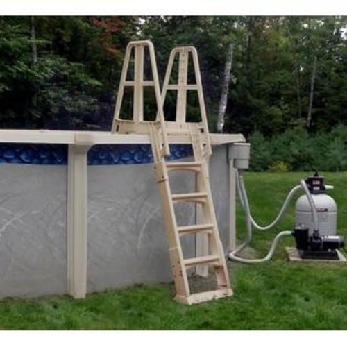 Blue Wave Premium A-Frame AG Pool Ladder - Taupe