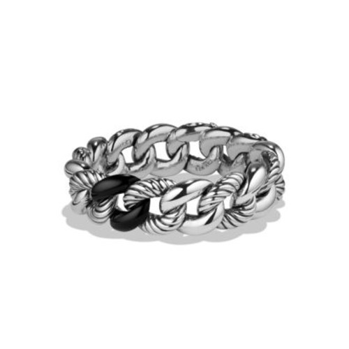 Belmont Curb Link Bracelet with Black Onyx