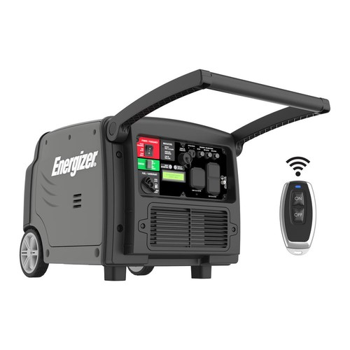 Energizer 3200-Watt Gas Powered Portable Inverter Generator with Remote Start and Parallel Capability CARB Approved