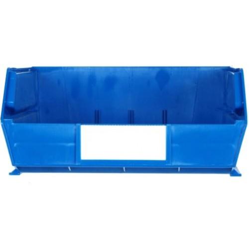 Triton Products LocBin 2.13-Gal. Stacking, Hanging, Interlocking Polypropylene Storage Bins in Blue (6-Pack)