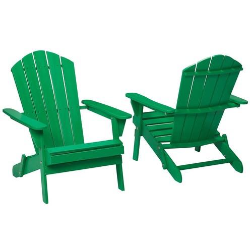 Jungle Folding Outdoor Adirondack Chair (2-Pack)