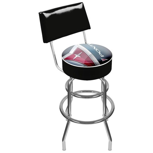 Trademark Global Pontiac Padded Swivel Bar Stool with Back