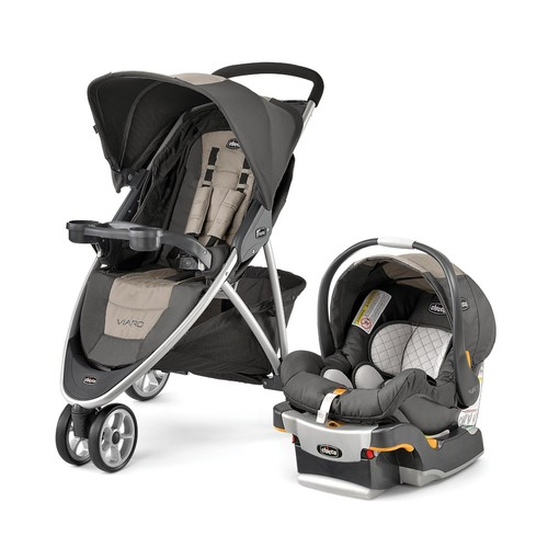Chicco Viaro Travel System in Teak