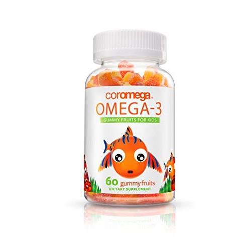 Coromega Omega 3, high - DHA Gummy Fruits, 60-Count