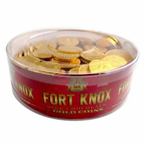 Gerrit 32 oz. Fort Knox Gold Coins Chocolate, 180/Tub