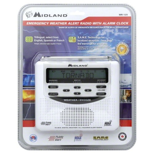 Midland Emergency Weather Alert Radio, With Alarm Clock 1 radio