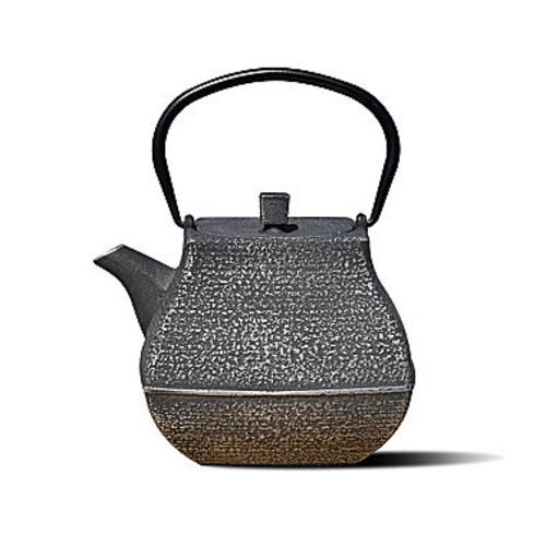 Dutch 44 Oz Silver and Black Cast Iron Meiyo Teapot