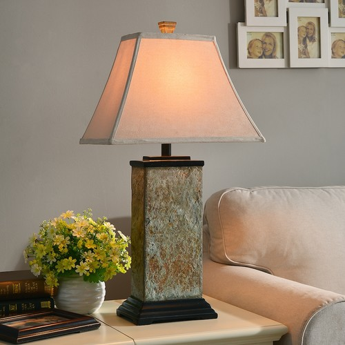 Kenroy Home Bennington 29 in. Natural Slate Table Lamp