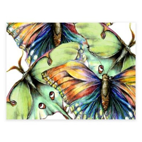 Pastel Butterflies All-Weather Outdoor Canvas Wall Art