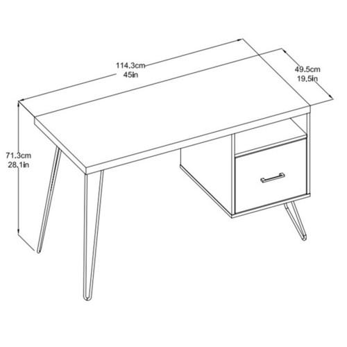 Ameriwood Home Landon Sonoma Oak/ Gunmetal Grey Desk