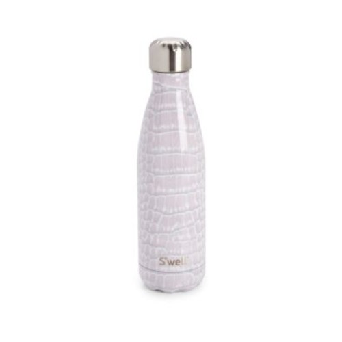Blanc Croc-Print Stainless Steel Reusable Water Bottle/17 oz.