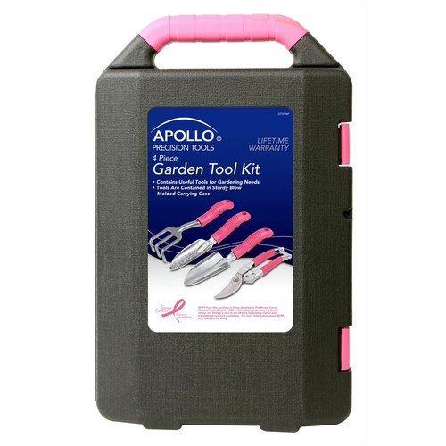 APOLLO TOOLS 4 PIECE GARDEN TOOL KIT PINK - DT3704P