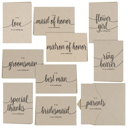Hortense B. Hewitt Kraft Wedding Party Thank You Card Set
