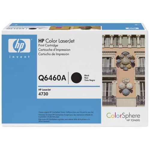 HP Color LaserJet Q6460A Black Cartridge, 12K Pages Q6460A