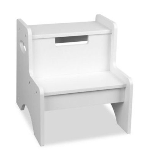 Wildkin Kid's Two Step Stool in White